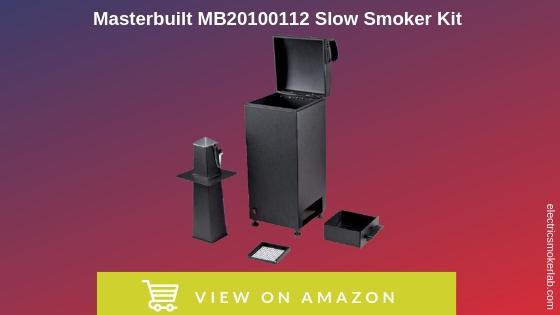Masterbuilt MB20100112 Slow Smoker Kit, Black