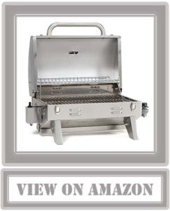 TOP Smoke Hollow 205 Stainless Steel Table Top Propane Gas Grill, Perfect for tailgating, camping or any outdoor event