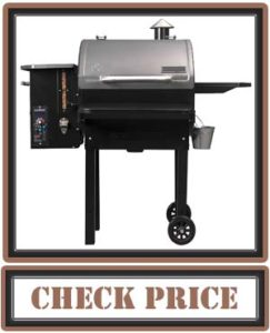 Camp Chef PG24MZG SmokePro Slide Smoker with Fold Down Front Shelf Wood Pellet Grill, Black