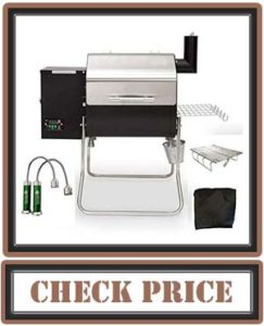 Green Mountain Grill Davy Crockett Pellet Grill Tailgating Package Includes Cover-Collapsible Rack-BBQ Lights