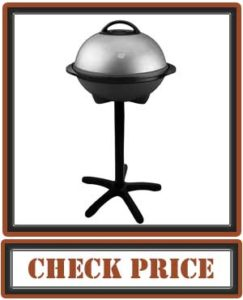 George Foreman 15-Serving Indoor Outdoor Electric Grill, Silver, GGR50B